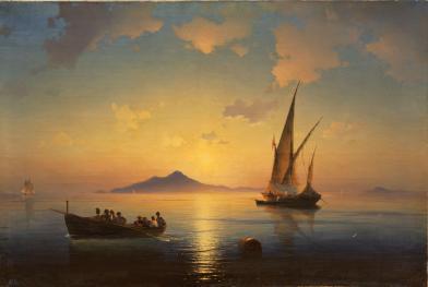 """Ivan Ajvazovskij """"Il golfo di Napoli"""" 1841"""